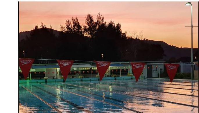 Rotorua Outdoor Pool, evening
